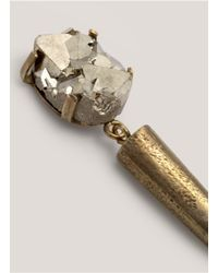 Citrine by the Stones - Metallic Spikedetail Pyrite Earrings - Lyst