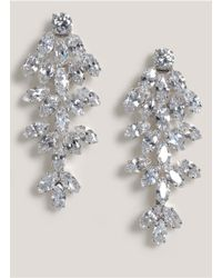 CZ by Kenneth Jay Lane | Metallic Crystal Leaf Clip Earrings | Lyst