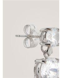 CZ by Kenneth Jay Lane - Metallic Double Cubic-zirconia Earrings - Lyst