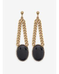 Ela Stone | Black Stone Drop Earrings | Lyst