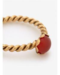 Ela Stone - Metallic Stone Ring - Lyst