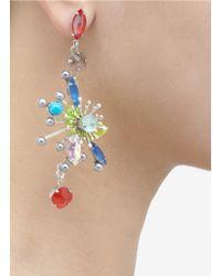 Erickson Beamon | Multicolor Multi-coloured Half-flower Earrings | Lyst