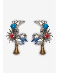 Erickson Beamon - Multicolor Nexus Flower Earrings - Lyst