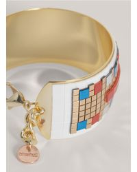 72054 - Hirschell - Multicolor Pixelated Brass Cuff - Lyst
