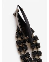 Iosselliani | Black Long Crystal Drop Earrings | Lyst