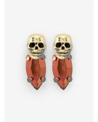 Iosselliani | Multicolor Skull Bronzed-stone Earrings | Lyst