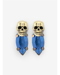 Iosselliani | Blue Skull Bronzed-stone Earrings | Lyst