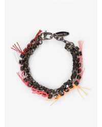 Joomi Lim | Metallic Double-row Crystal-and-chain Bracelet | Lyst