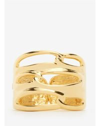Kenneth Jay Lane | Metallic Large Cutout Gold Cuff | Lyst