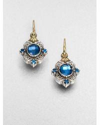 Konstantino - Metallic Semi Precious Multistone Sterling Silver 18k Gold Drop Earrings - Lyst