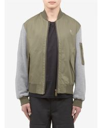 McQ - Green Baseball Cotton Jacket for Men - Lyst