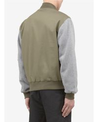 McQ | Green Baseball Cotton Jacket for Men | Lyst