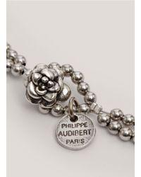 Philippe Audibert - Metallic Spike And Bead Necklace - Lyst