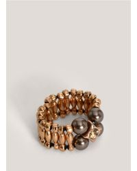 Philippe Audibert - Metallic Grey-pearl Beaded Ring - Lyst