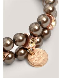 Philippe Audibert | Gray Two-row Grey Pearl Bracelet | Lyst
