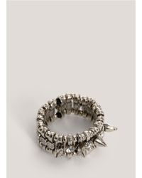 Philippe Audibert | Metallic Spike And Crystal Ring | Lyst