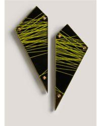 Sarah Angold Studio   Yellow Munitio Acrylic Earrings   Lyst