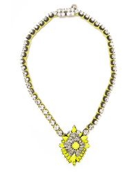 Shourouk | Metallic Cora Bamako Silver-plated Swarovski Crystal Necklace | Lyst