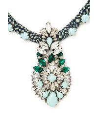 Shourouk - Blue Wax Necklace - Lyst