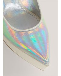 Stella McCartney | Metallic Holographic Pointed-toe Wedges | Lyst