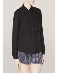 a0724b0beb8 Theory Rosita Silk Shirt in Black - Lyst