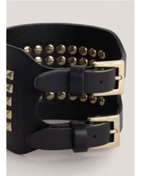 Valentino | Black Studded Leather Cuff | Lyst