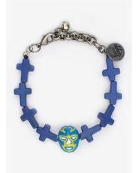 Venessa Arizaga - Blue 'mucha Lucha Libre' Bracelet - Lyst