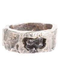 Alice Waese | Metallic Carved Round Ring with Meteorite for Men | Lyst