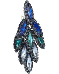 Elizabeth Cole - Metallic Hematite Plated Swarovski Crystal Earrings - Lyst