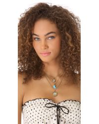 Juicy Couture - Metallic Triple Chain Disc Necklace - Lyst