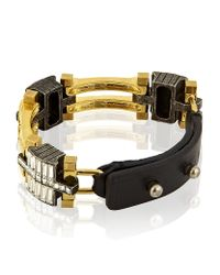 Lanvin - Metallic Dédale Bracelet - Lyst