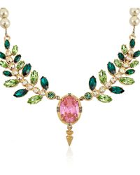 Mawi - Multicolor Crystal and Pearl Necklace - Lyst