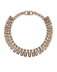 Mawi | Metallic Rose Gold Sunray Tube Necklace | Lyst