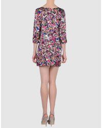 Olivia Rubin - Pink Belle Printed Silk-satin Shift Dress - Lyst