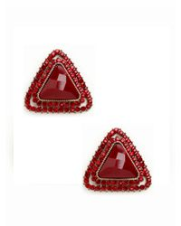 BaubleBar - Red Ruby Triangle Studs - Lyst