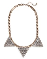 BaubleBar | Gray Warrior Triad Necklace | Lyst
