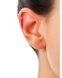 Elise Dray - Metallic Diamond Gold Cartilage Clip Single Earring - Lyst
