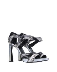 Pierre Hardy - Black Platform Sandals - Lyst