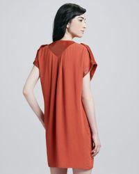 Rachel Zoe   Orange Reyna Capsleeve Dress   Lyst