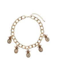 TOPSHOP | Metallic Pineapple Collar | Lyst