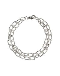 TOPSHOP | Metallic Oval Link Chain Necklace | Lyst