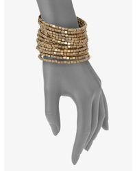 ABS By Allen Schwartz | Metallic Beaded Coil Bracelet | Lyst