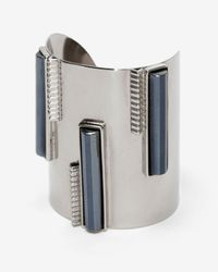 Ben-Amun | Metallic Striped Gunmetal Cuff | Lyst