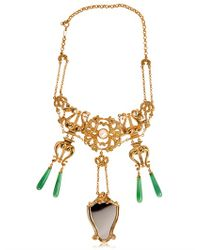 Delfina Delettrez - Green Vanitas Necklace - Lyst