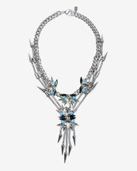 Fallon | Metallic Rosewell Crystal Cluster V Necklace | Lyst