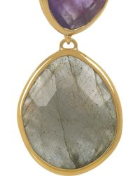 Monica Vinader - Metallic 18karat Goldvermeil Amethyst and Labradorite Earrings - Lyst
