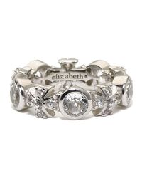 Elizabeth Showers | Metallic White Sapphire Maltese Ring for Men | Lyst