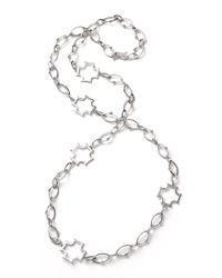 Elizabeth Showers | Metallic Long Maltese-station Chain Necklace | Lyst