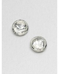 Ippolita | Metallic Rock Candy Clear Quartz & Sterling Silver Lollipop Stud Earrings | Lyst