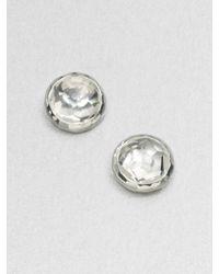 Ippolita | Metallic Rock Candy Clear Quartz & Sterling Silver Lollipop Stud Earrings | Lyst